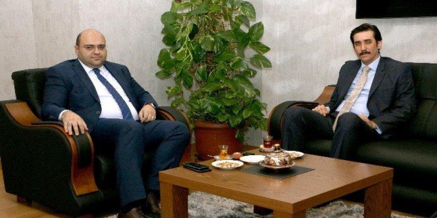Kaymakam Topsakaloğlu'ndan Başkan Orhan'a ziyaret