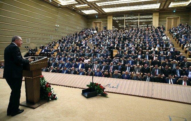 Aydınlı muhtarlar Cumhurbaşkanı Erdoğan ile buluştu