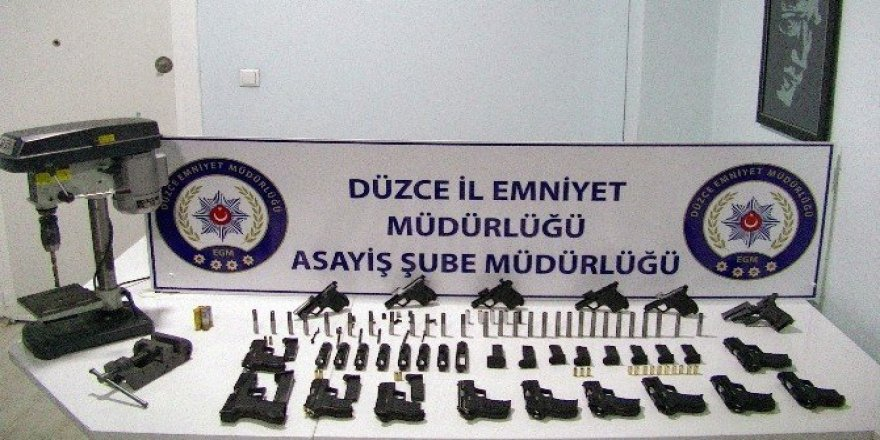 Kaçak silah imalatı yapan 2 kişi tutuklandı