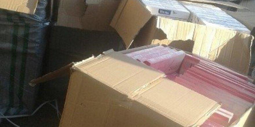 7O bin paket kaçak sigara ele geçirildi