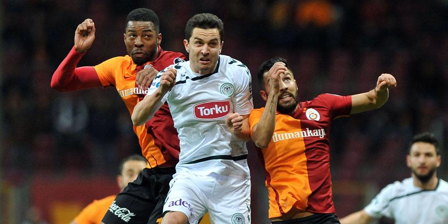 Atiker Konyaspor-Galatasaray maçında ilk 11'ler belli oldu!