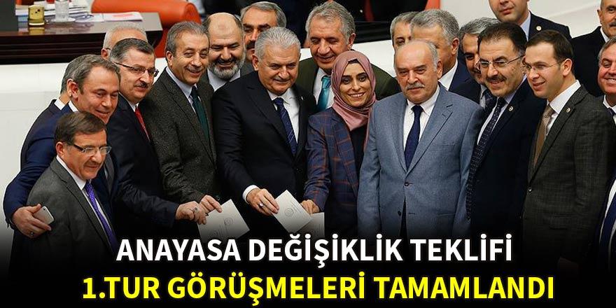 Anayasa değişikliği teklifinde 18. madde kabul edildi