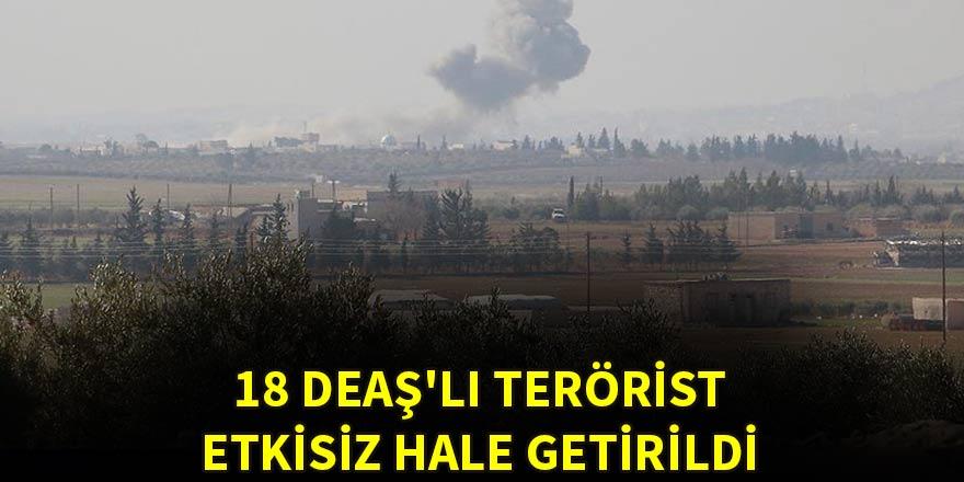 18 DEAŞ'lı terörist etkisiz hale getirildi