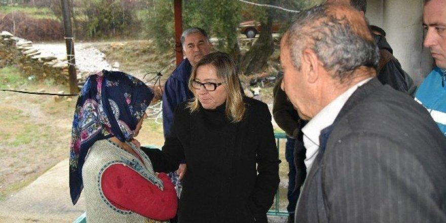 Yangın mağduru aileye Milas Belediyesi'nden yardım eli