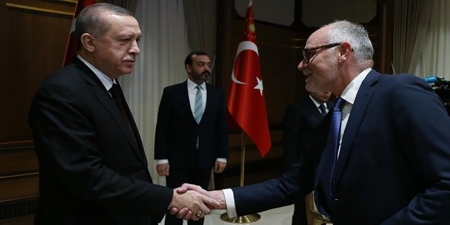 Cumhurbaşkanı Erdoğan Blunt ve beraberindeki heyeti kabul etti
