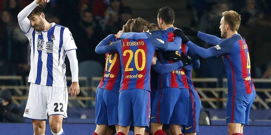 Barcelona kupada avantaj sağladı