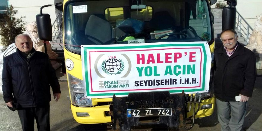 Seydişehir'de Halep'e yol açın kampanyası