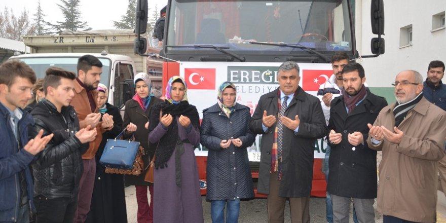 Yardımlar Halep için yola çıktı