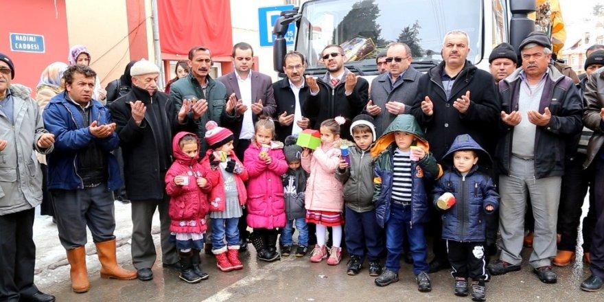 Hadim'den Halep'e yardım