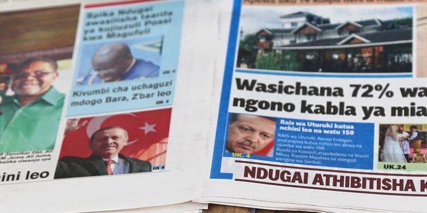 Erdoğan'ın ziyareti Tanzanya basınında