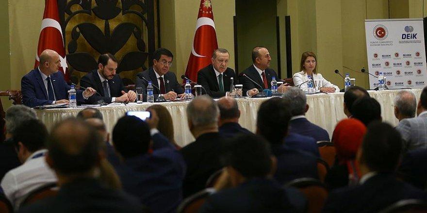 Erdoğan, Tanzanya'da Türk iş adamlarıyla buluştu