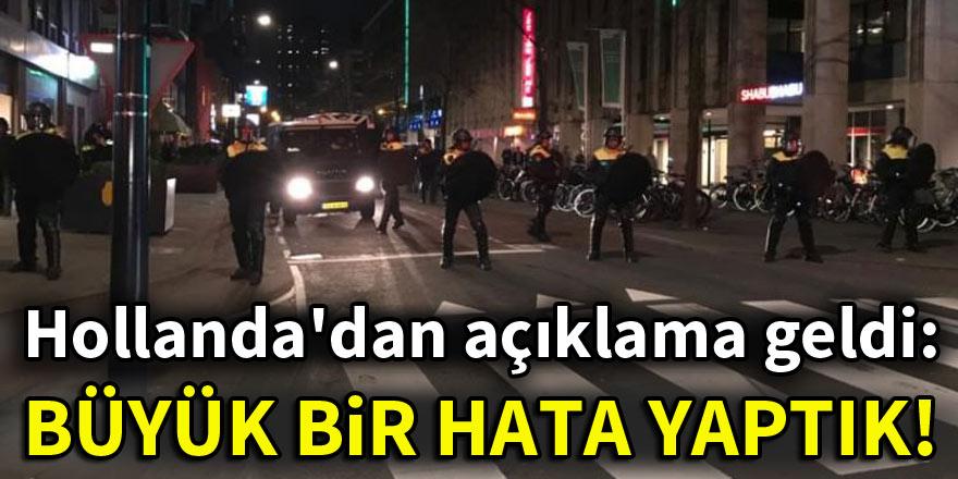 Hollanda'dan açıklama geldi: Türkiye'ye karşı büyük bir hata yaptık!