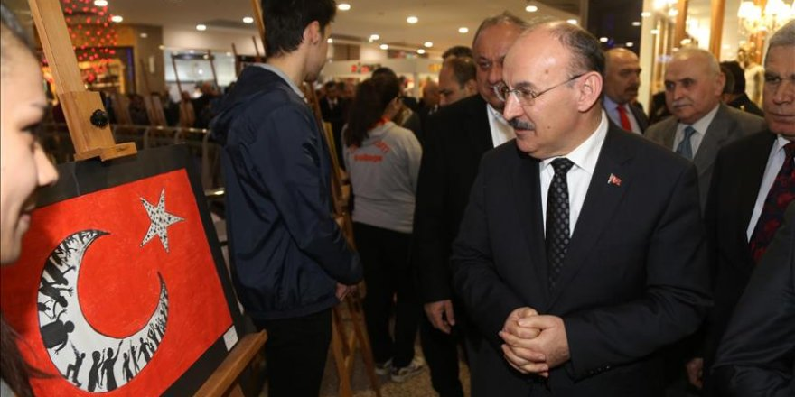 'Malazgirt'ten 15 Temmuz'a Şehitlik' resim sergisi açıldı