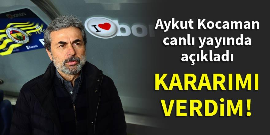 Aykut Kocaman canlı yayında açıkladı: Kararımı verdim!