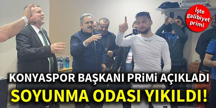 Konyaspor başkanı primi açıkladı, soyunma odası yıkıldı!