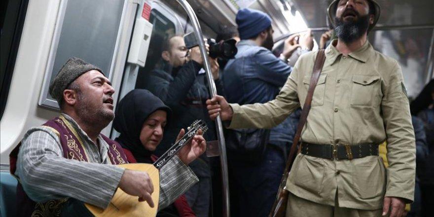 Çanakkale şehitleri Yenikapı Metro İstasyonu'nda anıldı