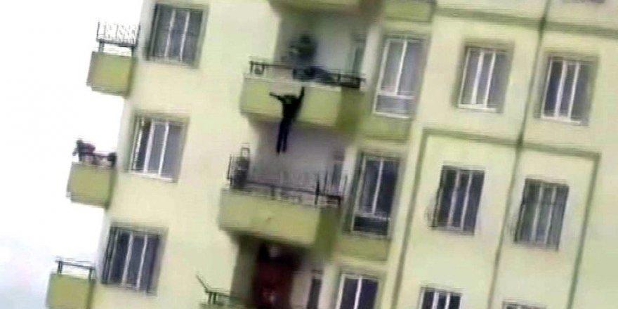 Gaziantep'te 16 yaşındaki kızın intiharı kamerada