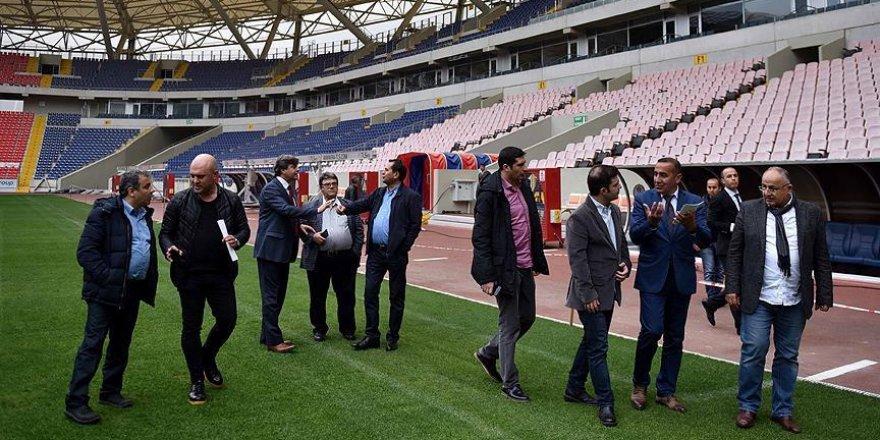 Spor gazetecileri Akdeniz Oyunları tesislerini gezdi