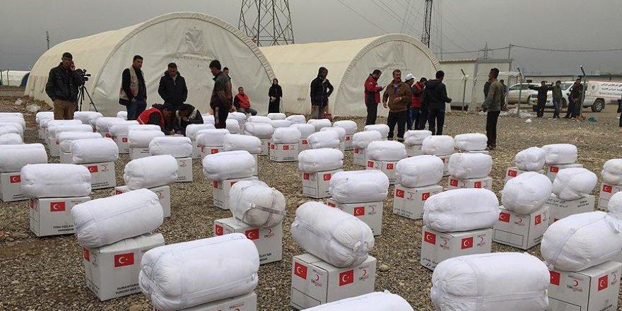 Türk Kızılayından Erbil'e insani yardım