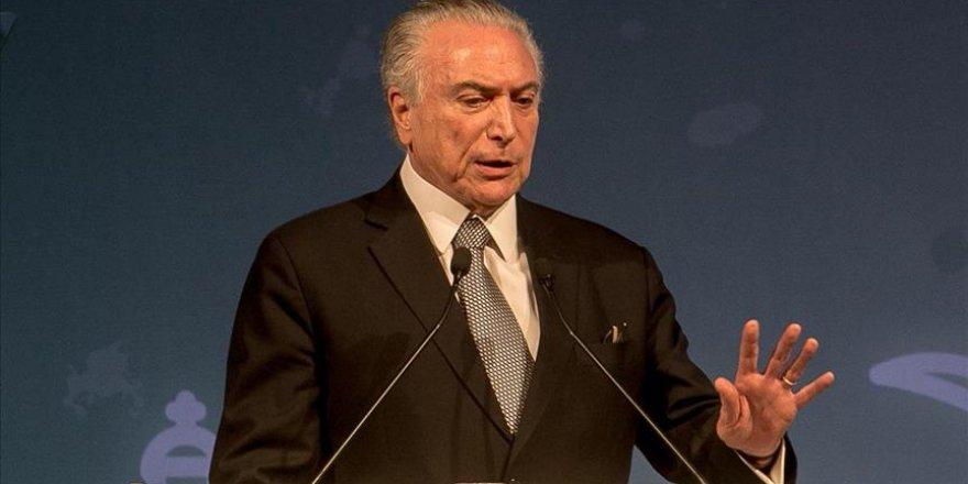 Brezilya Devlet Başkanı Temer istifa etmeyeceğini duyurdu