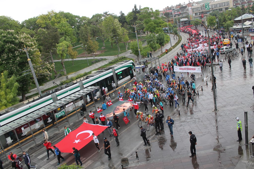 Konya'da '19 Mayıs' coşkuyla kutlandı