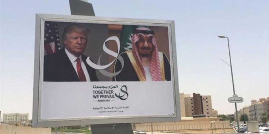 Suudi Arabistan'dan Trump'a afişli mesaj!
