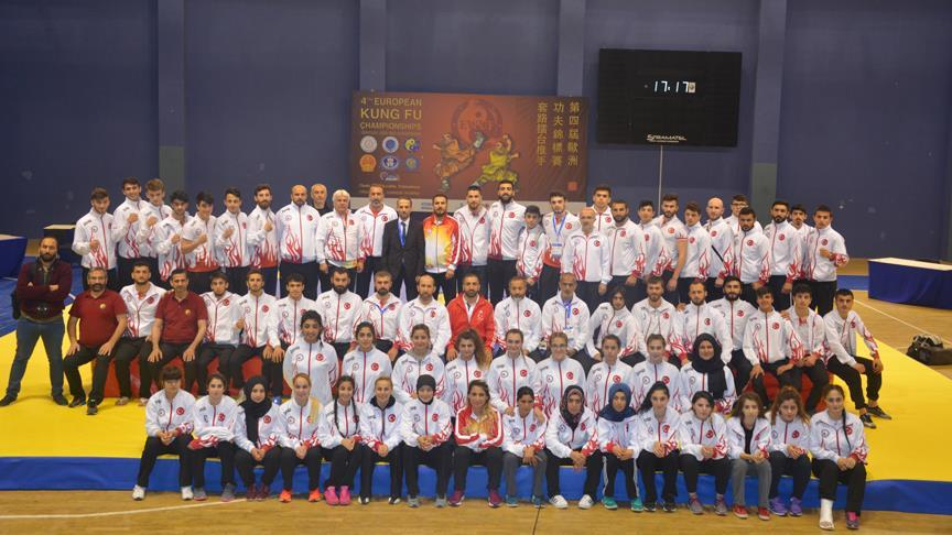 Türkiye Wushu Şampiyonası'nda Avrupa şampiyonu