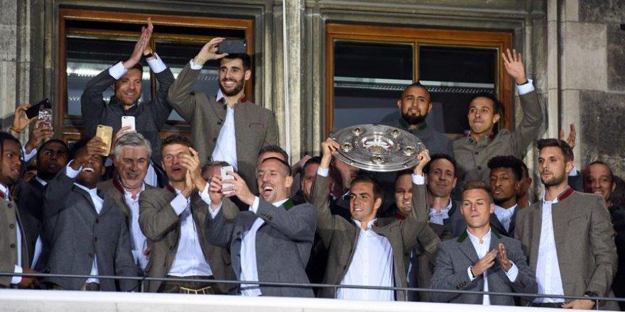 Bayern Münih'in şampiyonluk kutlaması
