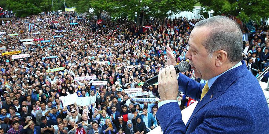 Erdoğan: Spekülasyonları sandıkta cevabını vererek yine yok edeceğiz