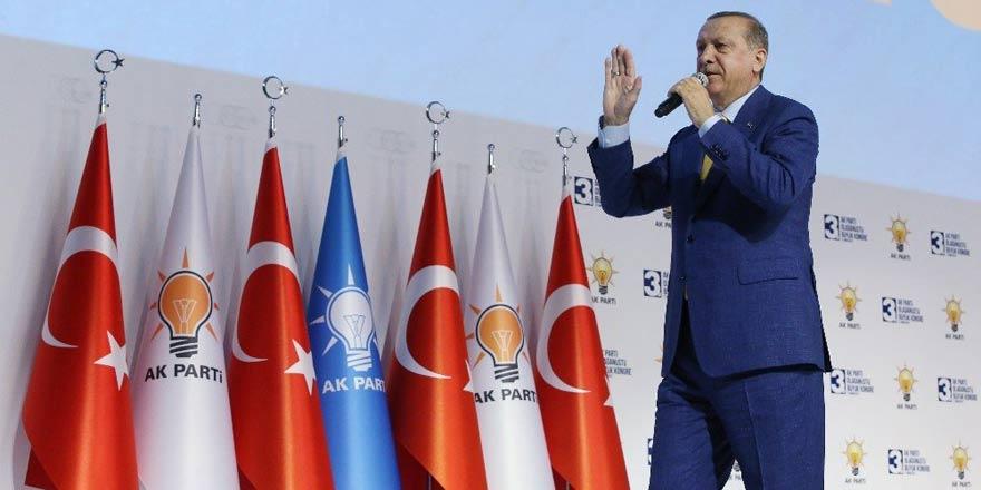 Cumhurbaşkanı Erdoğan Ak Parti'nin 3. Olağanüstü Kongresi'nde konuştu