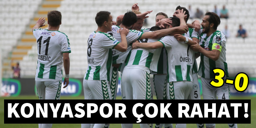 Atiker Konyaspor çok rahat kazandı! 3-0