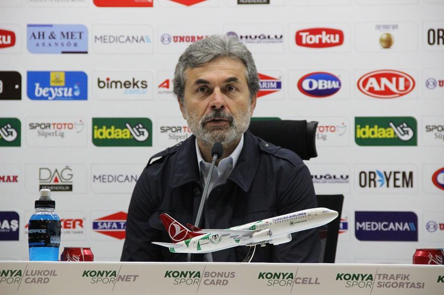 Konyaspor Teknik Direktörü Aykut Kocaman, oyundan memnun