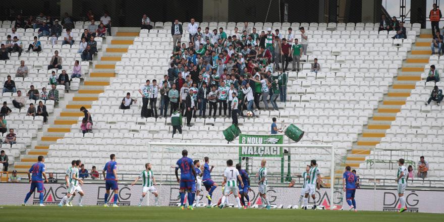 Konyaspor taraftarı maça gelmedi