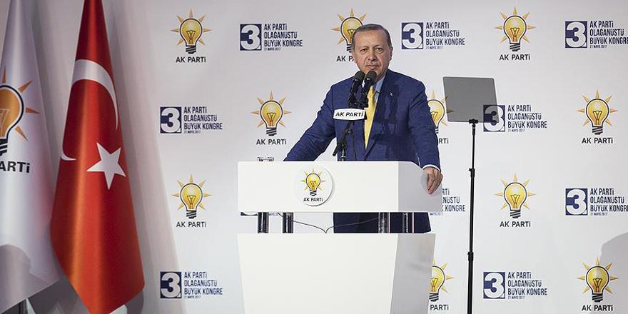 Erdoğan: Bu kongremiz, yeni bir başlangıçtır