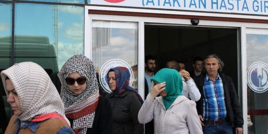FETÖ şüphelisi kadın sağlık kontrolüne güneş gözlüğüyle girdi