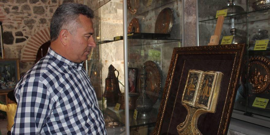 Kağıt rölyef eserler Karapınar'da beğeniye sunuldu