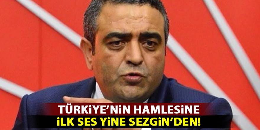 Türkiye'nin hamlesine ilk ses yine Sezgin'den!