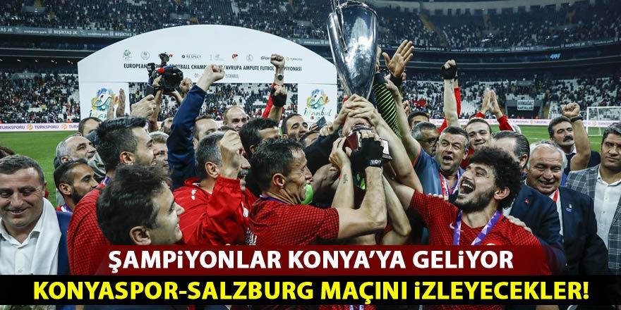 Ampute Milli Futbol Takımı Konyaspor'un onur konuğu olacak