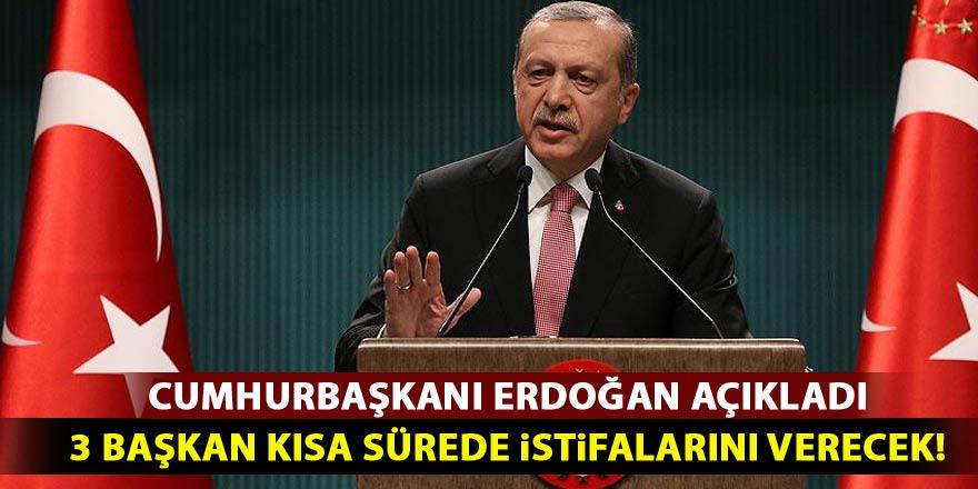 Erdoğan: Üç başkan en kısa sürede...