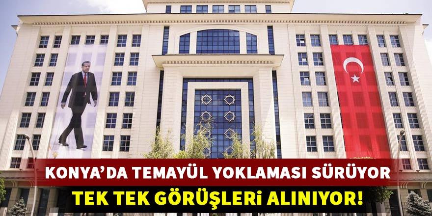 Konya'da temayül yoklaması devam ediyor!