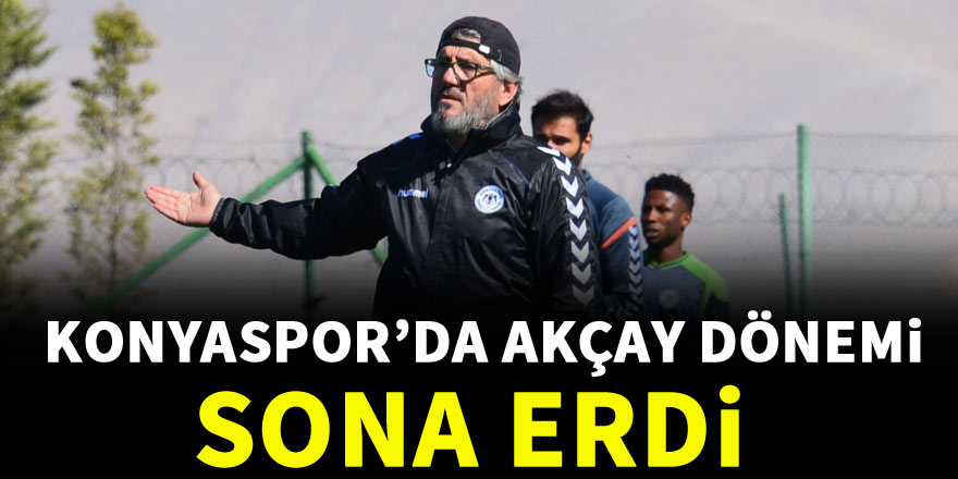 Konyaspor, Reşit Akçay ile yollarını ayırdı