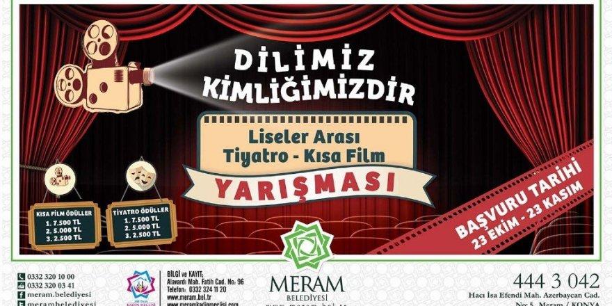 Meram Belediyesinden tiyatro ve kısa film Yarışması