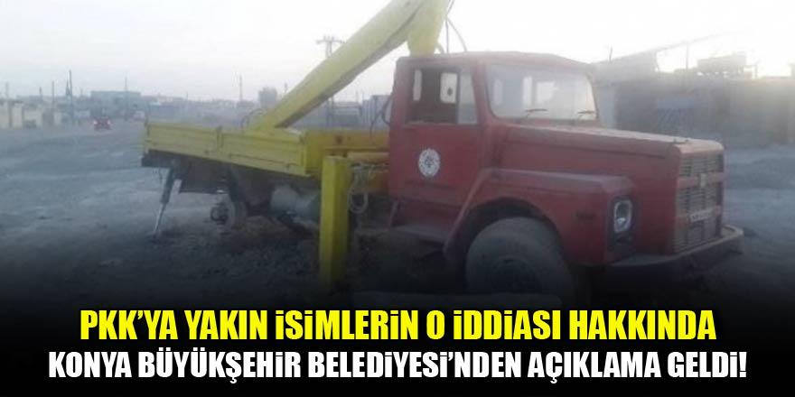 PKK'ya yakın isimlerin o iddiasına Konya Büyükşehir Belediyesi'nden cevap geldi
