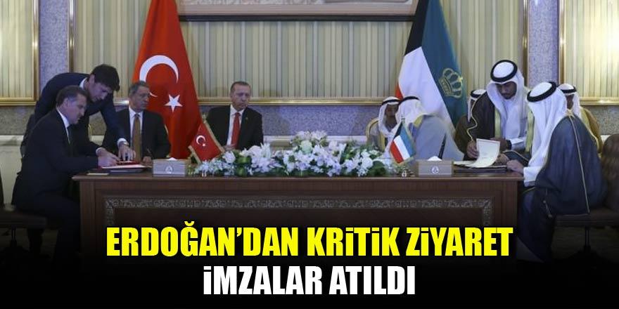Erdoğan'dan kritik ziyaret! İmzalar atıldı