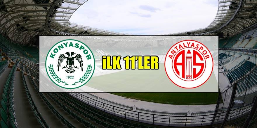 Atiker Konyaspor - Antalyaspor | İLK 11'LER