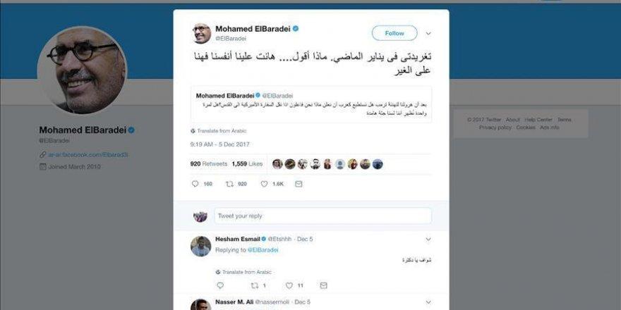 """El-Baradei appelle à """"la réduction des relations diplomatiques et militaires avec les États-Unis"""""""