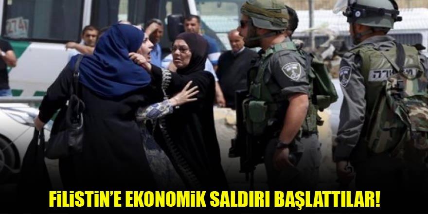 Filistin'e ekonomik saldırı başlattılar