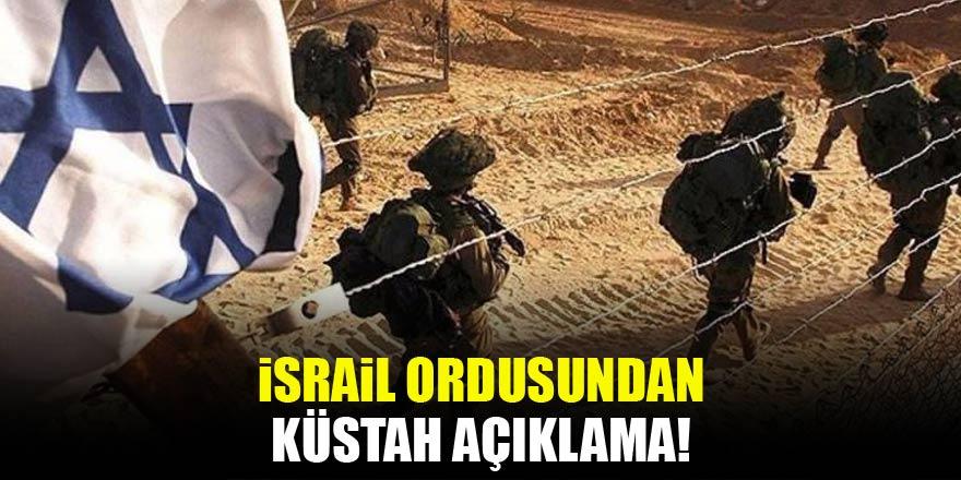 İsrail ordusundan alçak açıklama: Hazırız!