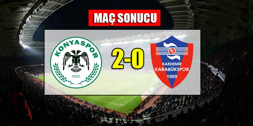 Konyaspor 2-0 Karabükspor | MAÇ SONUCU