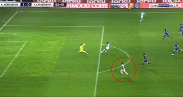 Konyaspor - Karabükspor maçında skandal hata!